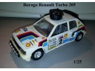 BURAGO Peugeot TURBO 205 1:25 - TOP PONUDA