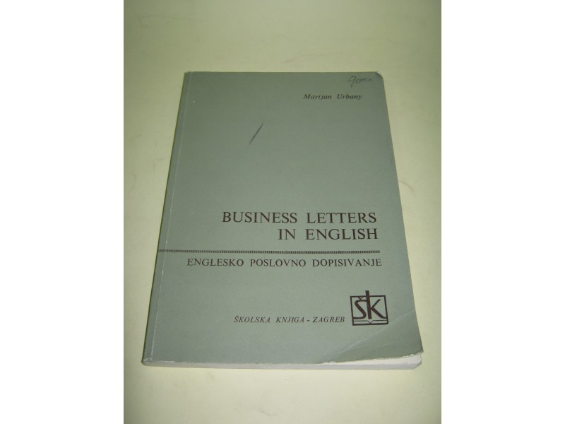 BUSINESS LETTERS IN ENGLISH - Marijan Urbany