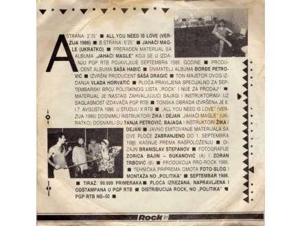 Bajaga I Instruktori - All You Need Is Love (Verzija 1986) / Jahači Magle (Ukratko)