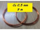 Bakarna lak žica za izradu nakita 0,5mm 9m