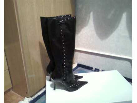 Batine crne kozne cizme (original)