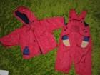 Beba kids crveni skafander iz dva dela za 9-12 m ili 80
