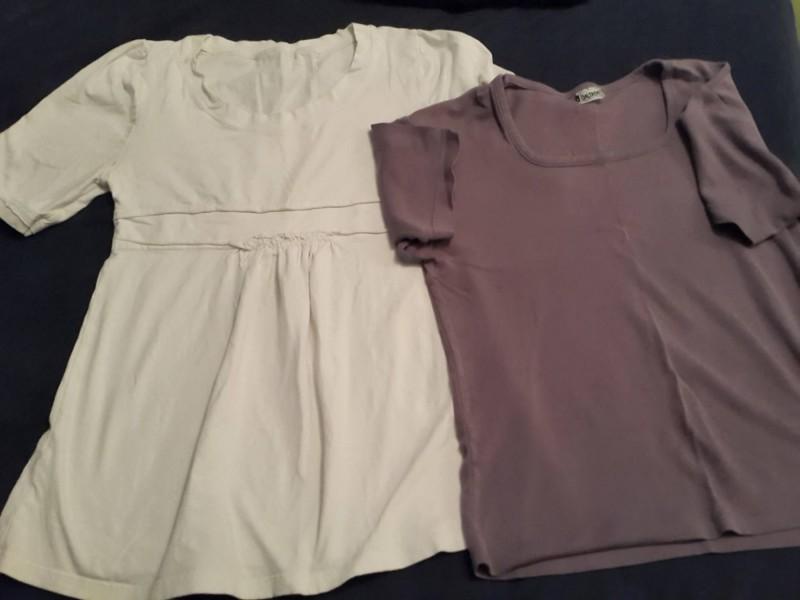 Bela majica +poklon lila majica