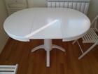 Beli `Ginko``  trpezarijski sto od medijapana
