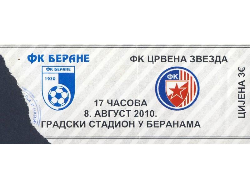 Berane - Crvena Zvezda   ,   2010.god.