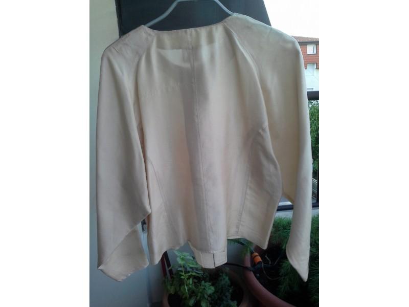 Bež svilena bluza