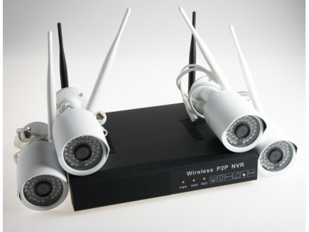Bežični AHD WI-FI komplet za video nadzor sa 4 kamere