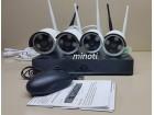 Bezicni Video Nadzor Sa 4 IP WiFi HD Kamere + Hard 1TB