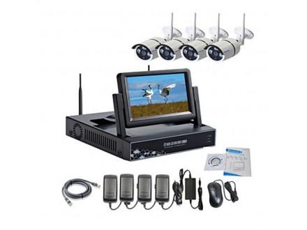 Bezicni Wi-Fi komplet za video nadzor sa monitorom