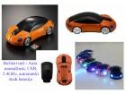 Bežični miš - Auto, narandžasti, USB, 2.4GHz