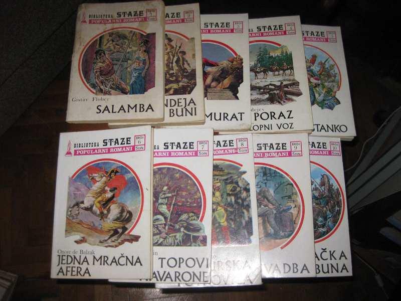Biblioteka Staze Popularni Romani komplet 1 - 10
