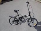 Bicikl sklopivi folding bike 20`` tockovi crven
