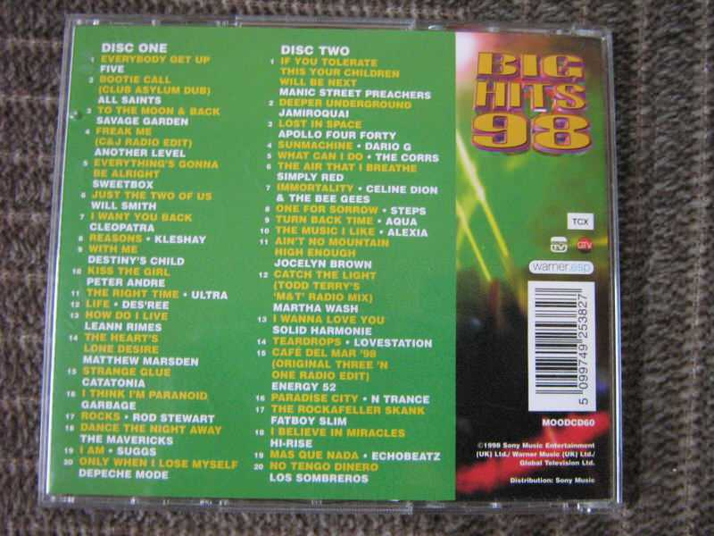 Big Hits 98 (Various Artists) 2xCD