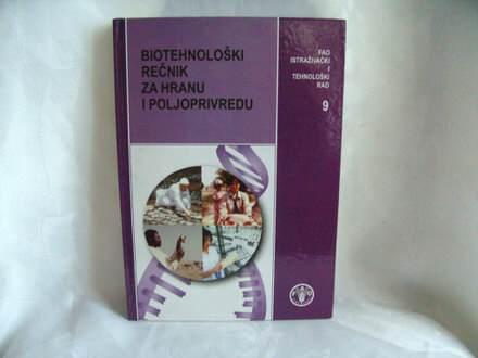 Biotehnološki rečnik za hranu i poljoprivredu