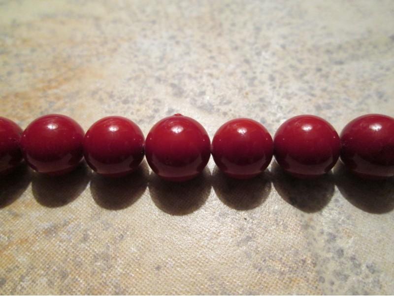 Biser Majorka crveni 10mm