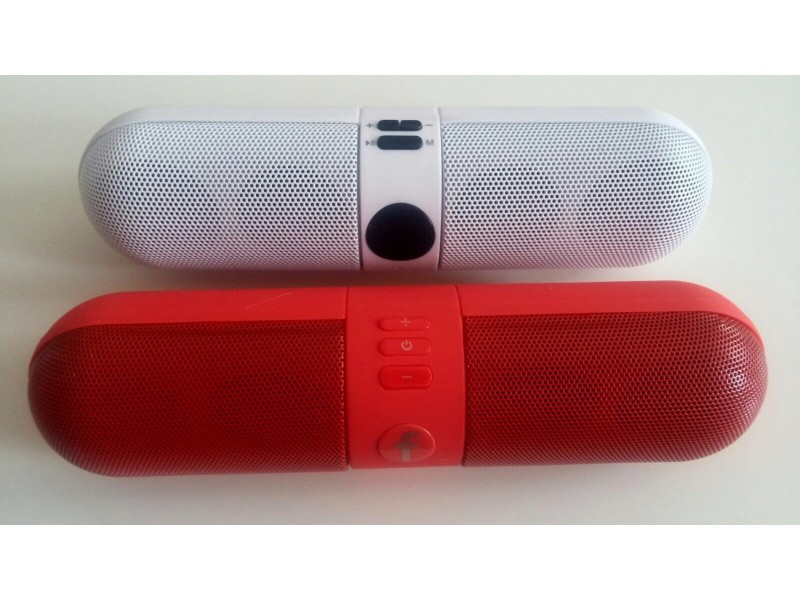 Bluetooth zvucnik bezicni bluetooth zvucnik MP3,FM bela