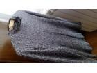 Bluza kom.crno  krem neujednacenih boja sa delom čipke