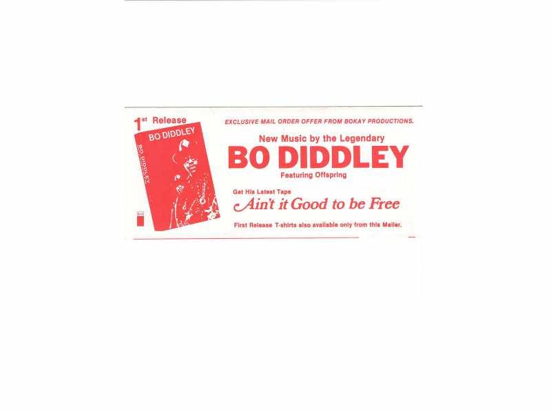 Bo Diddley - flajer   21,5 x 9,5 cm