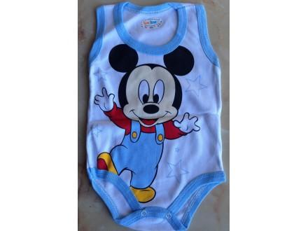 Bodi za bebe Mickey Mouse na bretele,Vel:68,92,98