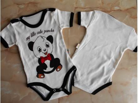 Bodi za bebe kratak rukav,Panda ,Vel-68,74
