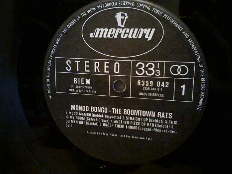 Boomtown Rats, The - Mondo Bongo