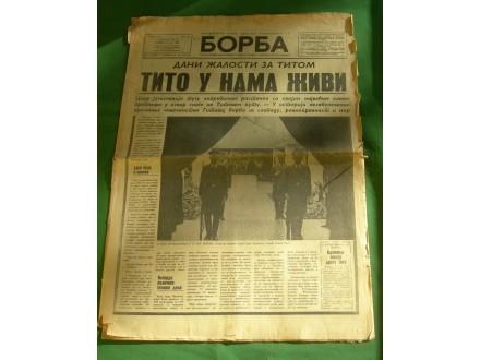 Borba br. 127, specijal, Tito, 10. maj 1980.