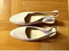 Boreli bež sandale - prevrnuta prirodna koža
