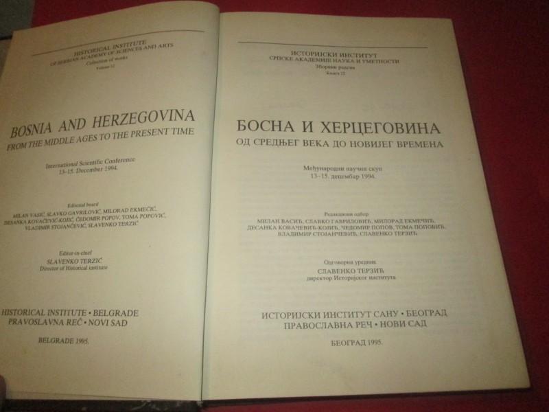 Bosna i Hercegovina od srednjeg veka do novijeg vremena