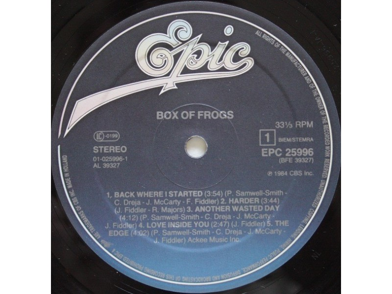 Box Of Frogs ‎– Box Of Frogs
