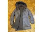 Braon jakna, zimska, duža