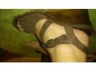 Braon kozne platforme-sandale 40