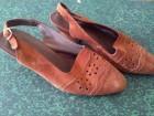 Braon kožne sandalice