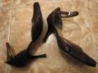Braon sandale na stiklu italijanske / 36