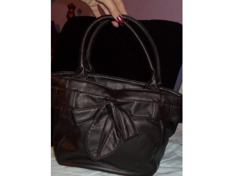 Braon torba sa mašnom