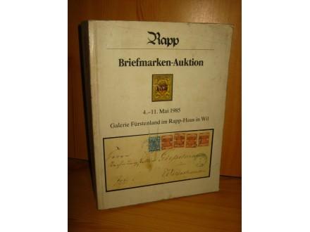 Briermarken-Auktion 4.-11. Mai 1985