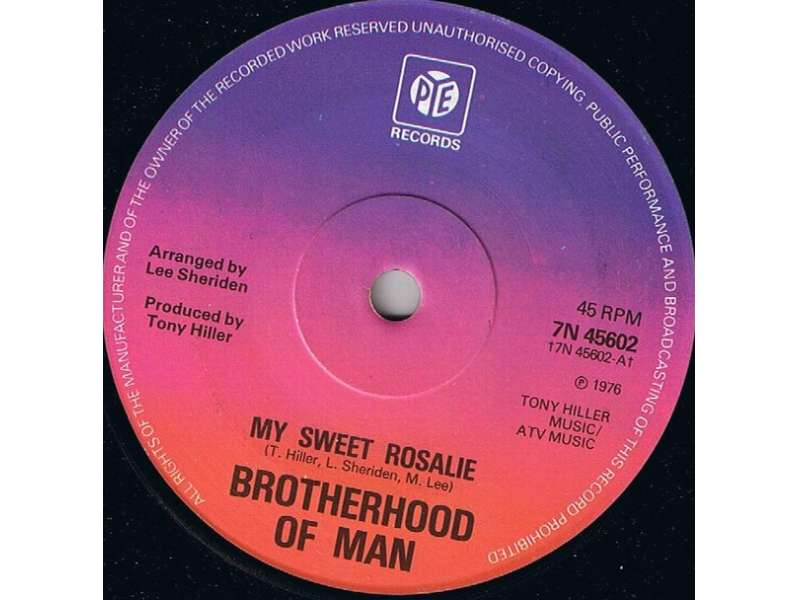 Brotherhood Of Man - My Sweet Rosalie / Sugar Honey Love
