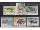 Bugarska 1958 Fauna - Životinje nezupčane, čisto (**)
