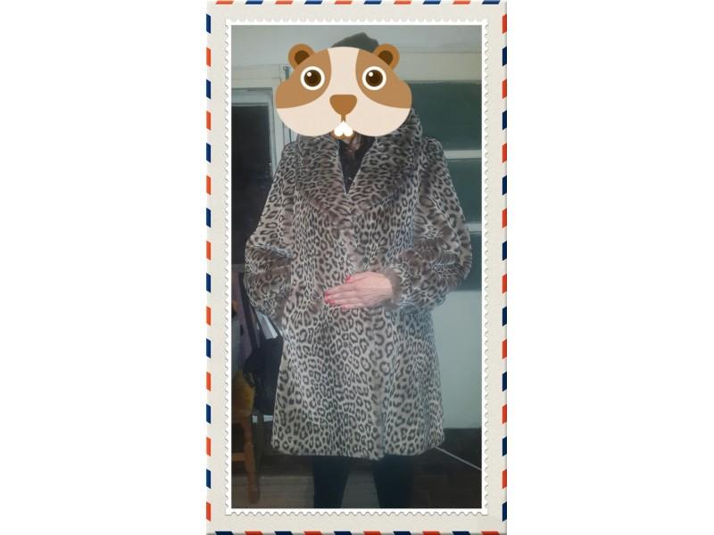 Bunda leopard. Kvalitetna vestacka bunda finalno snizen