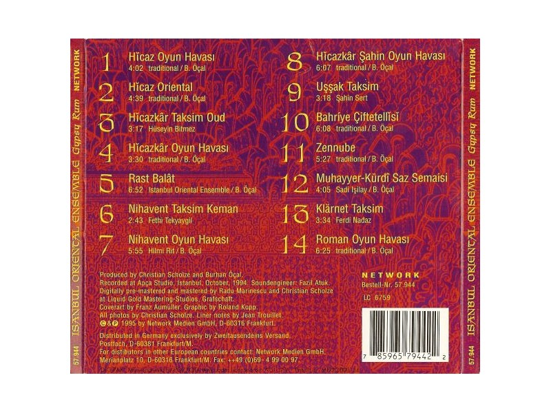 Burhan Öçal, Istanbul Oriental Ensemble - Gypsy Rum