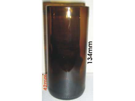 ČAŠA braon za PIVO  0,24 L staklena