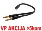 CCA-418A ** Gembird 3.5mm Headphone Mic Audio Y Splitter Cable Female to 2x3.5mm Male adapter (95)