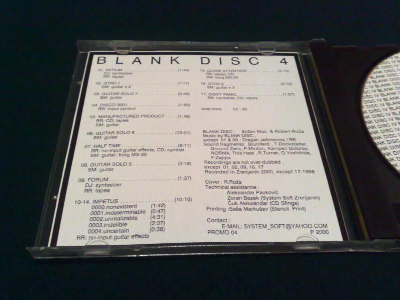 CD, Blank Disc (Zrenjanin), Blank Disc IV