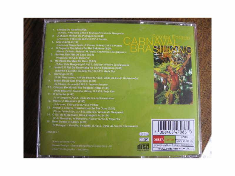 CD - CARNAVAL BRASILIANO