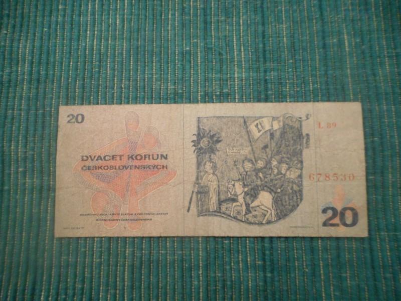 CEHOSLOVACKA 20 korun 1970