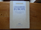 CHAMBERS  EUROPE - EUROPE`S LEADING LAWYERS FOR BUSINES