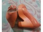 CHIC kozne narandzaste cipele sa platformom
