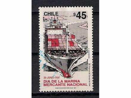 CHILE 1991. TRGOVACKA MORNARICA BROD BRODOVI