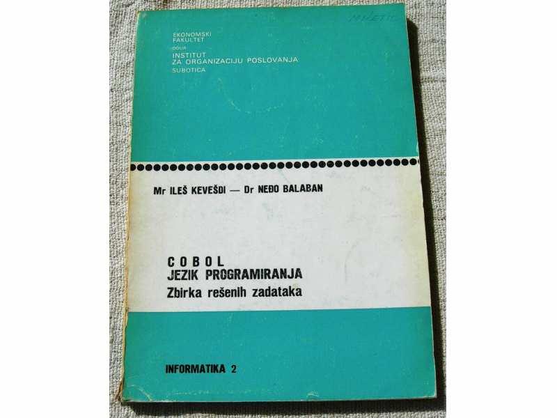 COBOL, jezik programiranja, Zbirka rešenih zadataka