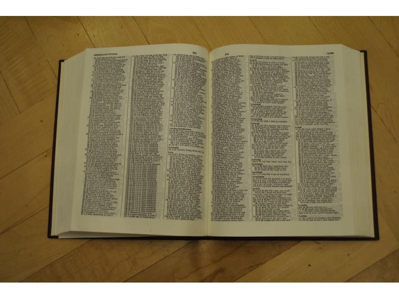 COMPRENHSIVE BIBLE CONCORDANCE engleski recnik bib.reci
