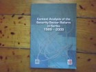 CONTEXT ANALYSIS OF THE SECURITY SECTOR REFORM IN SRBIA
